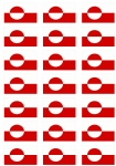 Greenland Flag Stickers - 21 per sheet